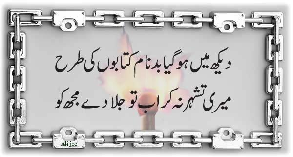 Daikh main ho gaya badnaam kitaboon ki tarha