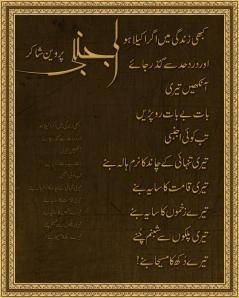 Ajnabi-by-Parveen-Shakir-Urdu-Poetry